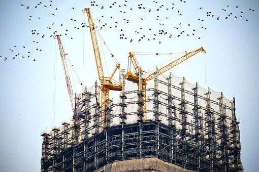 uilding, Construction, Site, Cranes